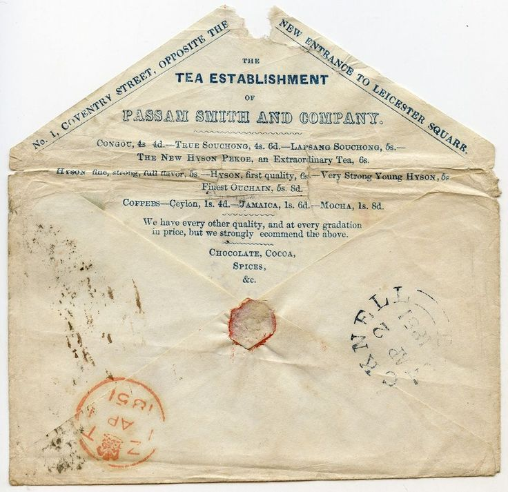 GB 1851 Tea, Coffee, Chocolate, Cocoa advertising cover London to Binfield  | eBay