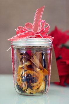 This homemade Christmas potpourri is made for heating on the stovetop with water, so the fragrance permeates throughout the house as the potpourri simmers.