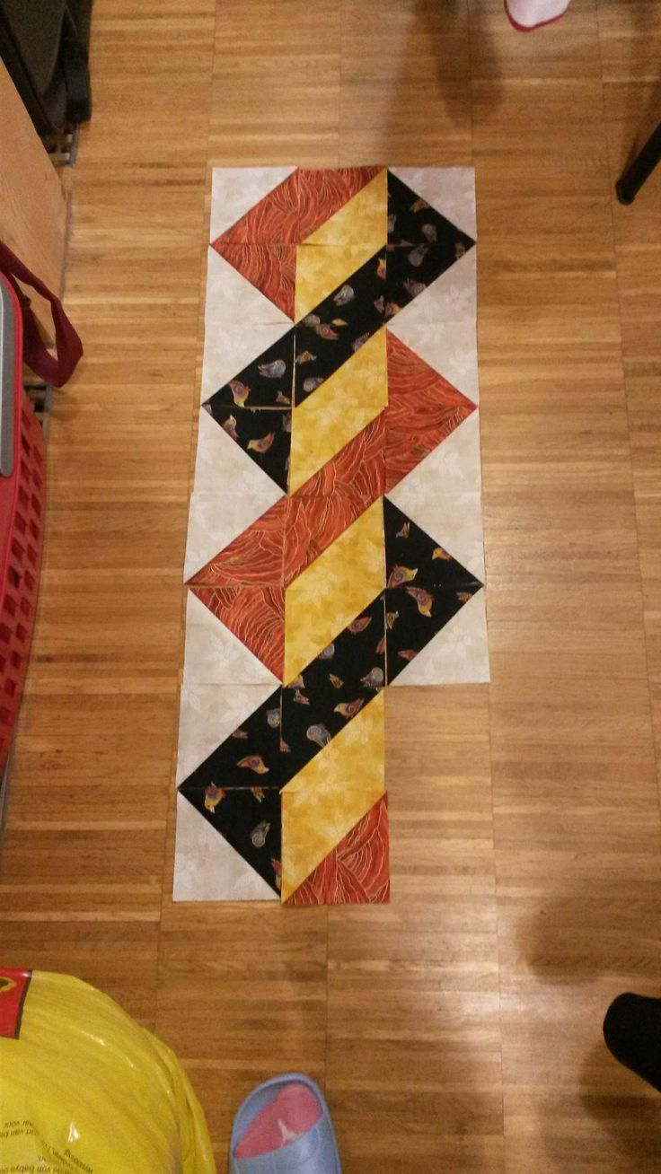 Triangles   Easy Placemat, Runner Or Quilt Border