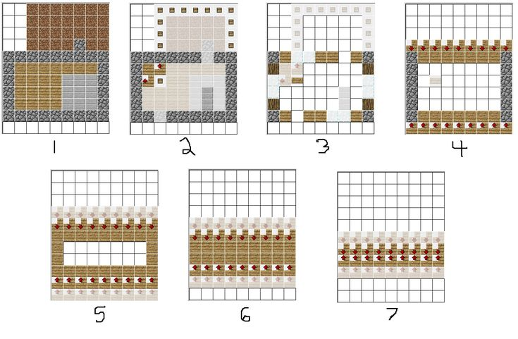 Minecraft House Blueprints 06