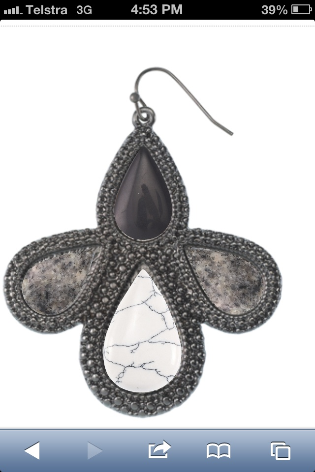 Samantha Wills has opened her design centre. I designed these Bardot gunmetal earrings & I can buy it.