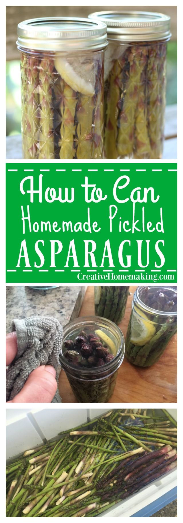 How to can homemade pickled asparagus.