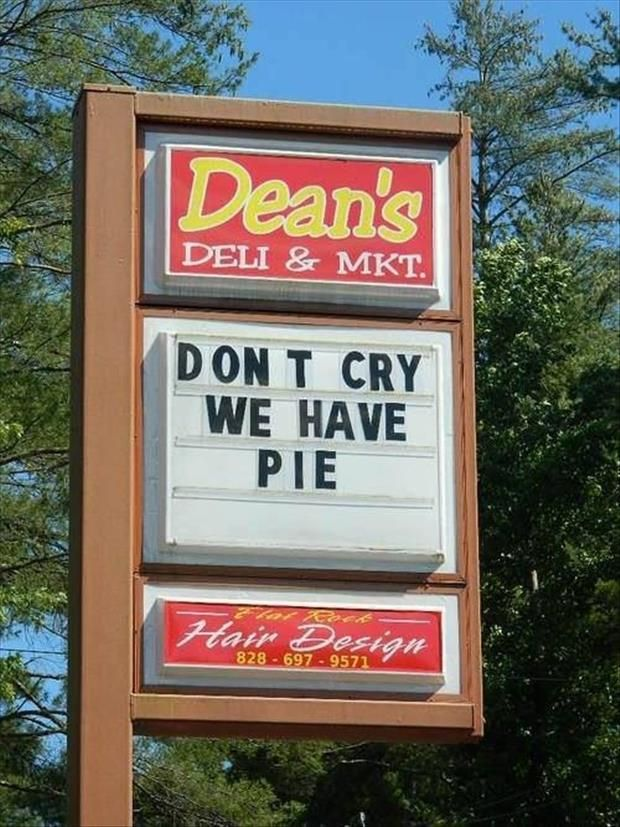 I can't see any fail here #pie for dean #don't you cry no more