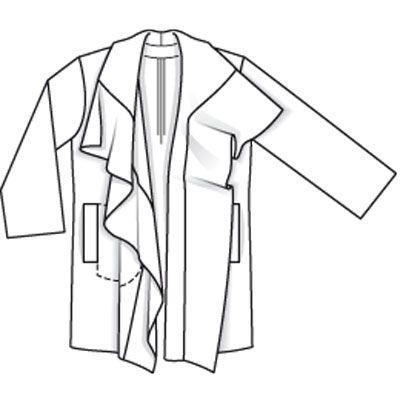 Пальто - выкройка № 134 A из журнала 8/2009 Burda – выкройки пальто на Burdastyle.ru