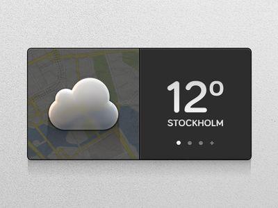Weather Widget - Liquorice UI Kit