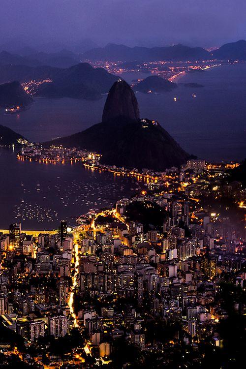 Rio De Janeiro At Night, Brazil