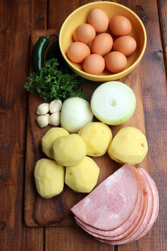 Ingrédients pour la tortilla espagnole