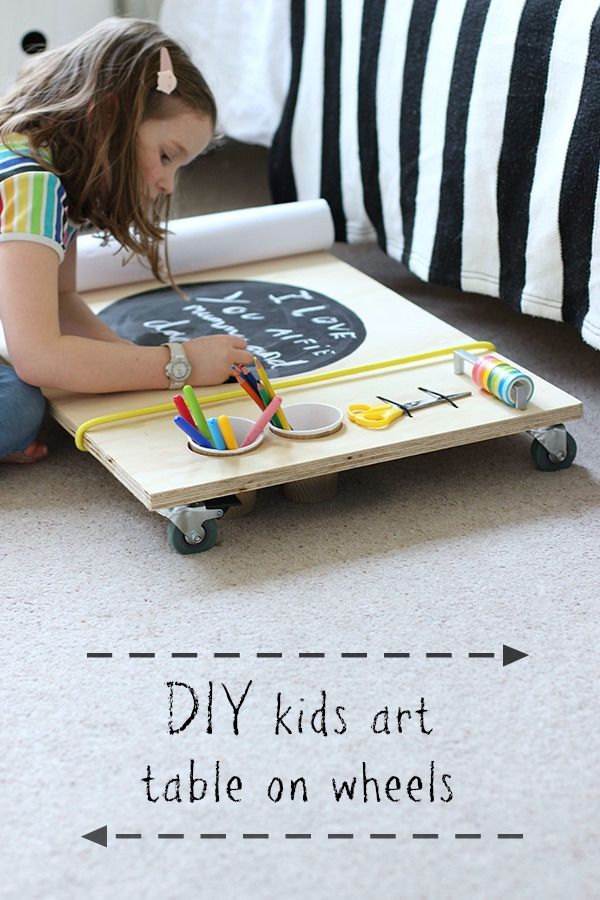 DIY Kids Art Table On Wheels | Growing Spaces More