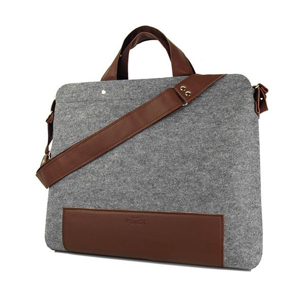 MISTER felt bag - Purol Design  MISTER is a bag made of felt and leather, fastend with a zip. Convenient to carry in hand or on arm, also as a postman bag.