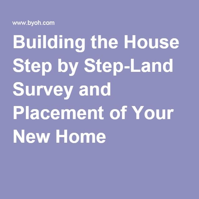 Building the House Step by Step-Land Survey and Placement of Your New Home