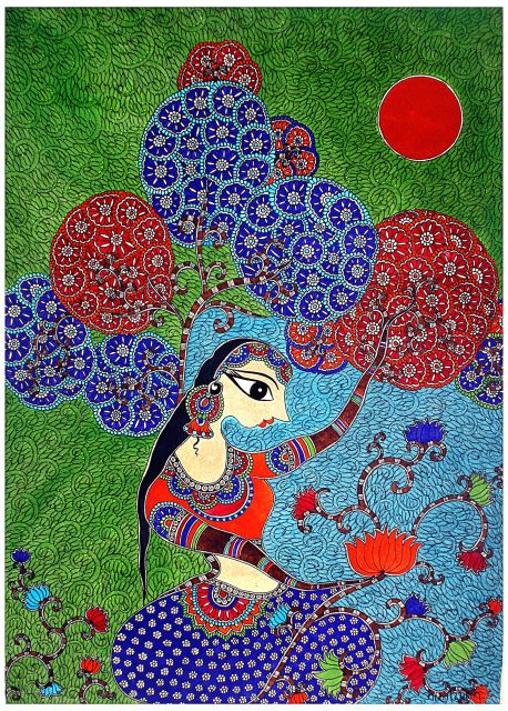 pepupstreet.com, Madhubani painting, Indian folk art by Bharti Dayal