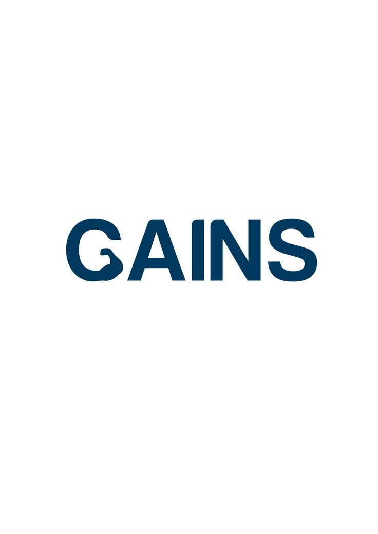 Gains Gym #LogoDesign #GraphicDesign #Branding #Design #Logo #Creative #Art