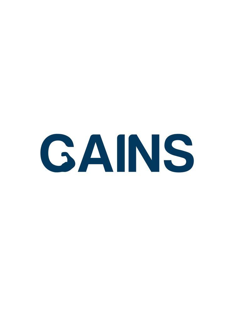 Gains Gym #LogoDesign #GraphicDesign #Branding #Design #Logo #Creative #Art