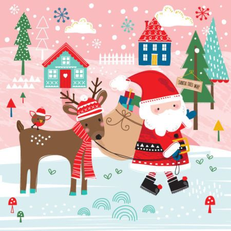 Sophie Webber - Sophie Webber Christmas Santa Reindeer Card