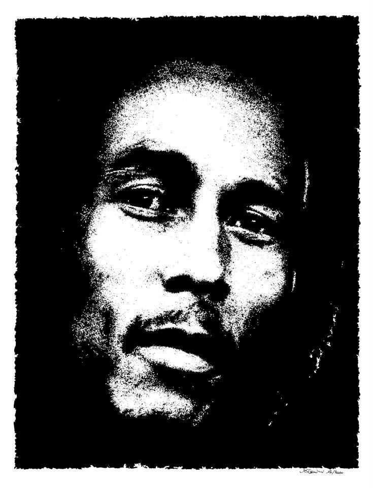 """No woman, nuh cry"" 12/2010 - 36x54 cm Inchiostro di china su carta ruvida 200 gr. #art #portrait #bobmarley"
