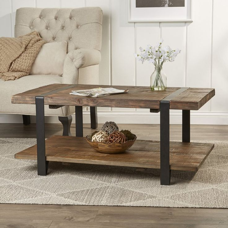 A Rustic Farmhouse Coffee Table Coffee Table With Storage