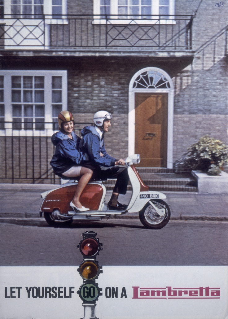 Let yourself go on a Lambretta vintage ad