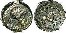 Piève de la tribu gauloise des Véliocasses. Gallic tribe coin. Mid 1st century AD