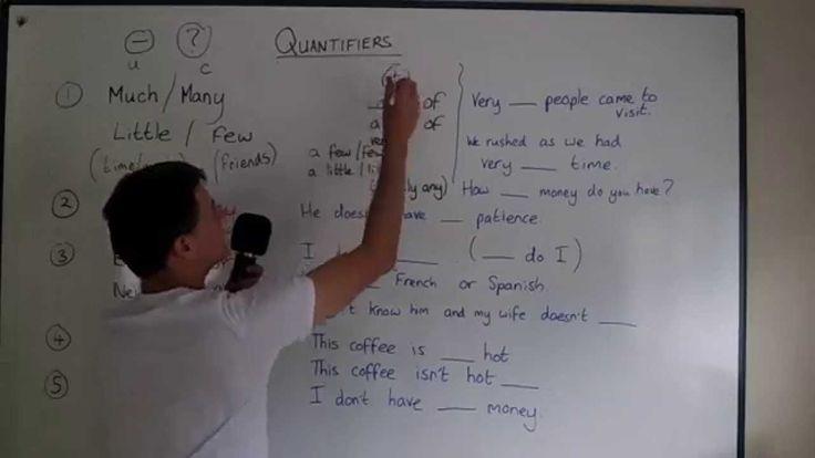 Quantifiers (much, many, few, less etc)