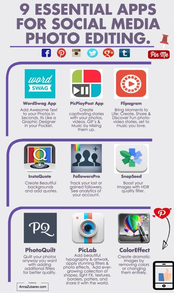 9 Apps for #Photo Editing SM