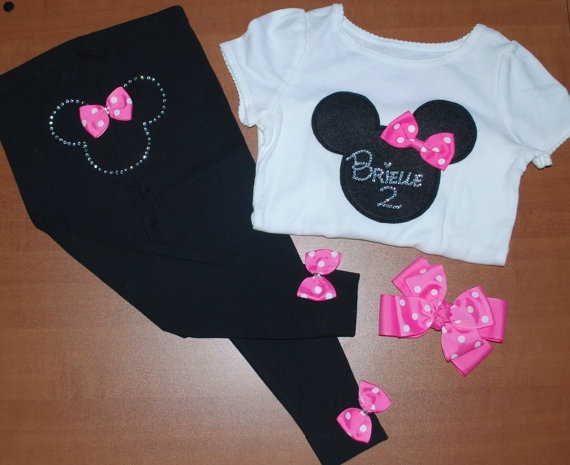 Minnie Mouse Outfit cute for when we get to take out little one to Disney one day.