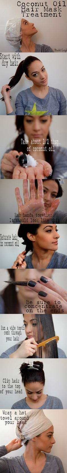 Coconut Oil Hair Mask. I will definitely need to try this!