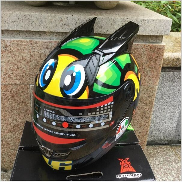 (71.09$)  Buy here  - Free shipping 2016 for MALUSHUN Motorcycle Helmet Rossi little turtle number 46 Pattern Motocicleta Cascos Para Moto gp Helmet