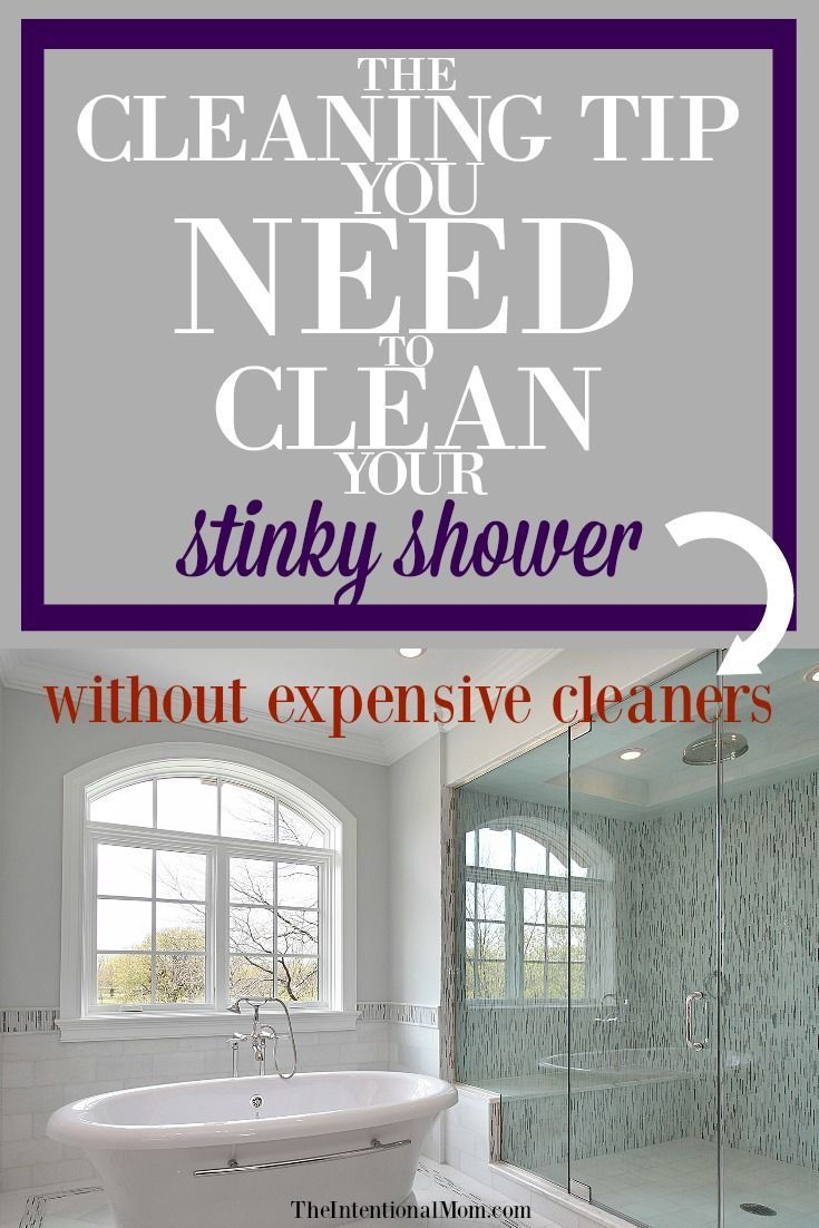 the cleaning tip you need to clean your stinky shower frugal rh pinterest com