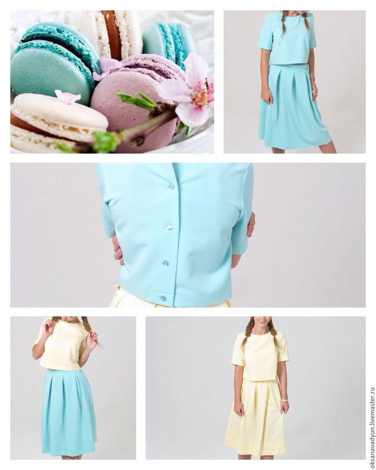 Купить Костюм летний Mint & lime - лимонный, однотонный, костюм женский, костюм деловой