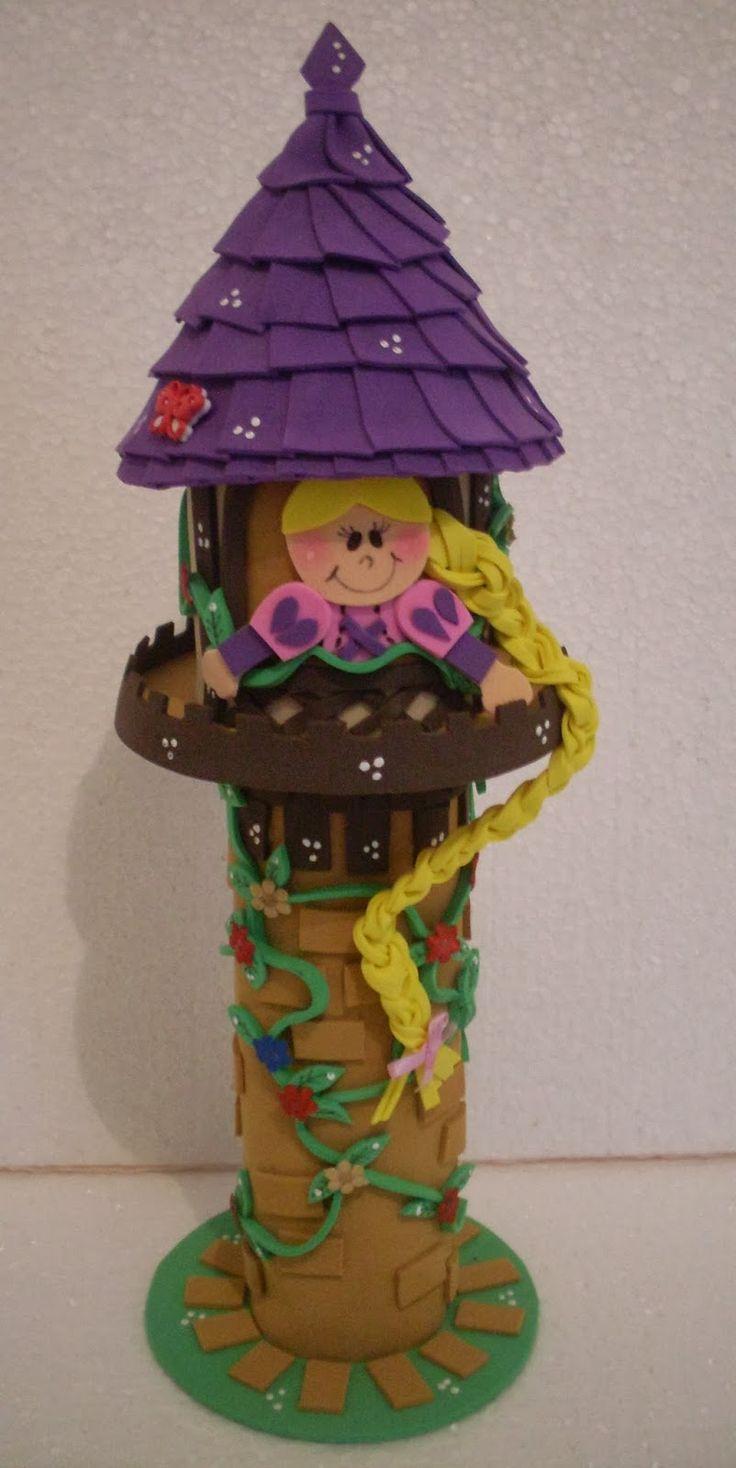 Jogue sua trança Rapunzel!!                  Torre da Rapunzel do filminho Enrolados      ...