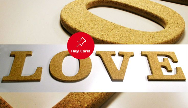 Love? Пробковые буквы для интерьера.