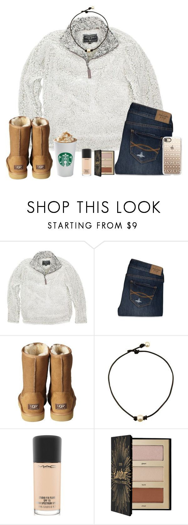 """""""❄️⛸"""" by gabyleoni ❤ liked on Polyvore featuring True Grit, Abercrombie & Fitch, UGG Australia, MAC Cosmetics, Sephora Collection and Casetify"""