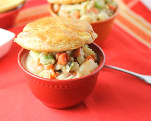 Seafood Pot Pie This comforting Seafood Pot Pie is packed with fish, shrimp and a lot of vegetables.