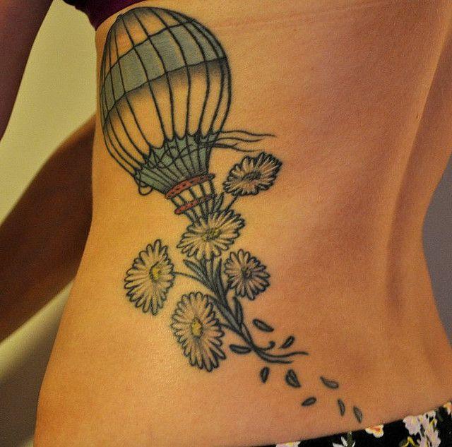 balloon, flowers, girl, tattoo - inspiring picture on Favim.com