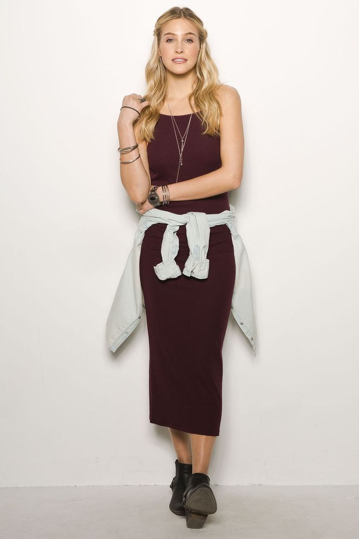 Rib Maxi Dress $16.99