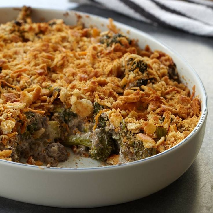 Broccoli and  Wild Mushroom Casserole   Food & Wine