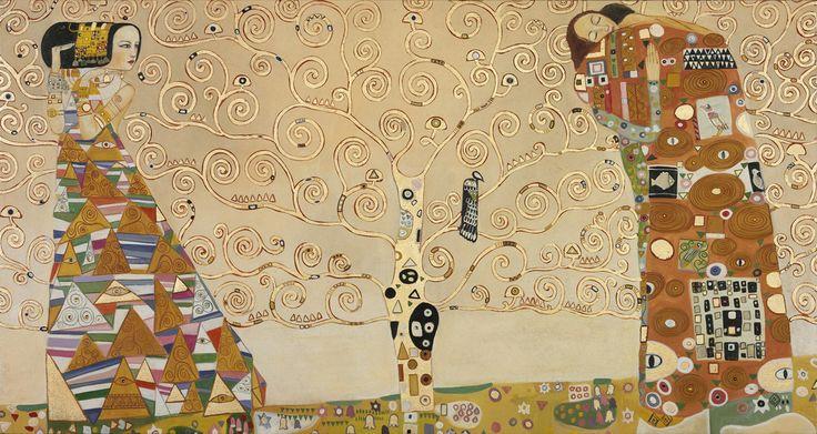 """Affreschi Moderni part. de """"L'Attesa"""", """" L'Albero della Vita"""", """"L'Abbraccio"""" - G. Klimt"""