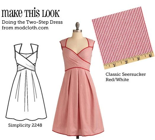 I've found my new favorite website. Sew Weekly gives you the patterns to buy for the dresses from Mod Cloth and Anthropology along with some tips to make it more like the actual dress.