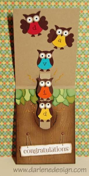 Completed Owl slider pop up card