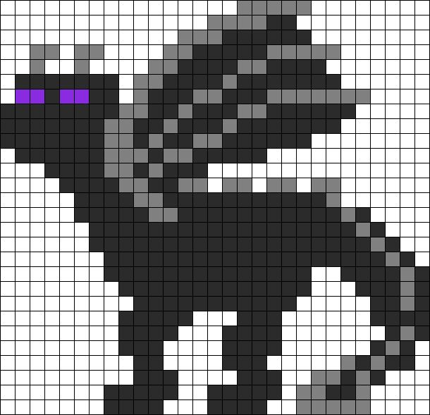 Minecraft Ender Dragon Perler Bead Pattern