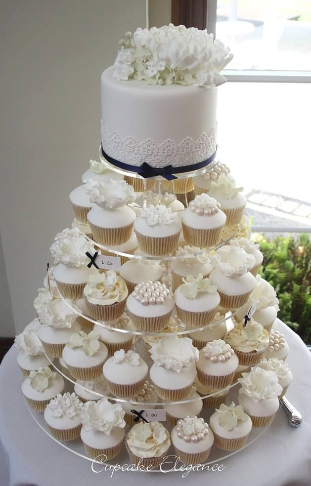 Silver White Wedding Cakes