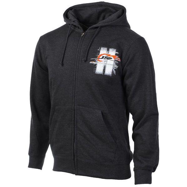 JR Motorsports Full Zip Hoodie - Heather Gray - $27.99