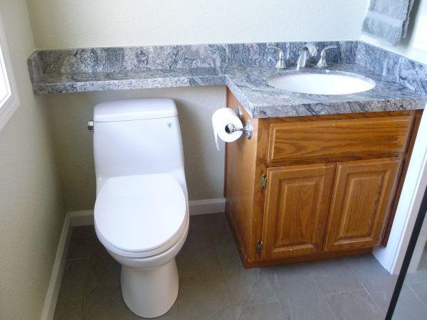 Piracema White Granite Banjo Vanity Top Bathroom