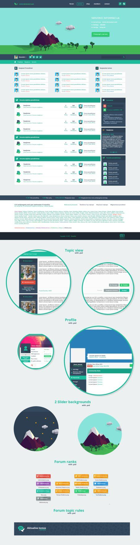 [ FREE ] Samp flat web design by iEimiz on DeviantArt