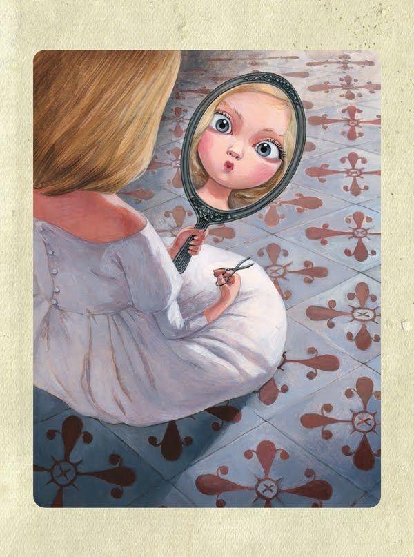 Mirror / Specchio - Illust. by Benjamin Lacombe