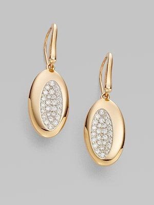 Roberto Coin: Diamond and 18K Rose Gold Earrings