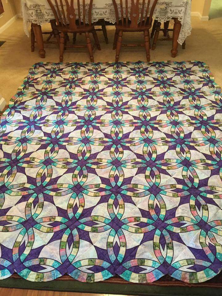 Quilting Designs For Wedding Ring Quilts : Best 25+ Wedding ring quilt ideas on Pinterest