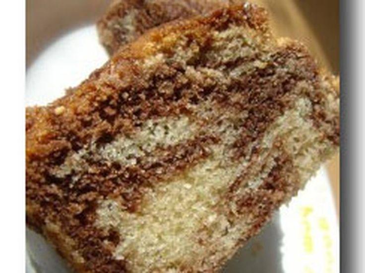 Recette cake marbré chocolat vanille noix