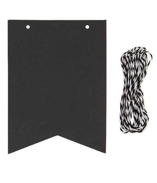 Chalkboard Hanging Paper Flags - All That I Need