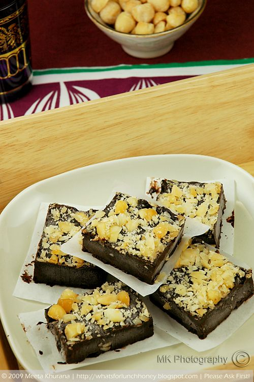 Chocolate Fudge Burfi- whoever came up with this is a genius